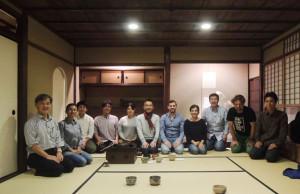 Todd and Hagino 15:11:06 tea reception at Kyoto Architectural College