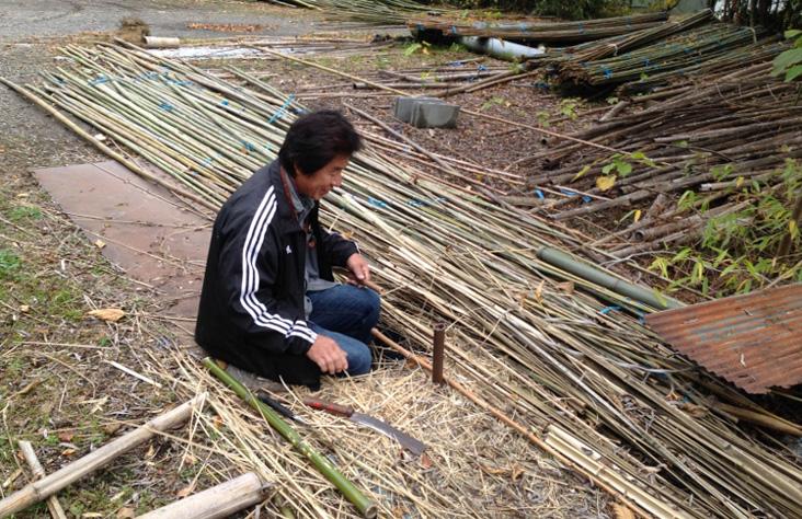 todd hagino 151113-visiting-shoji-tanabe-bamboo-maker