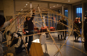 Todd and Hagino 15:12:10 - bamboo workshop at VK