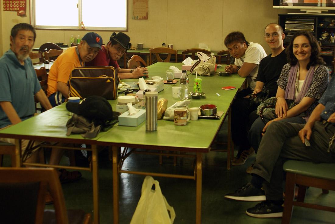 Zenciri et Giovanetti, Ningen, photo du tournage