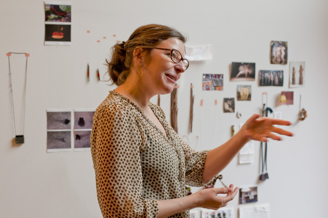 Céline Sylvestre. Visite d'atelier
