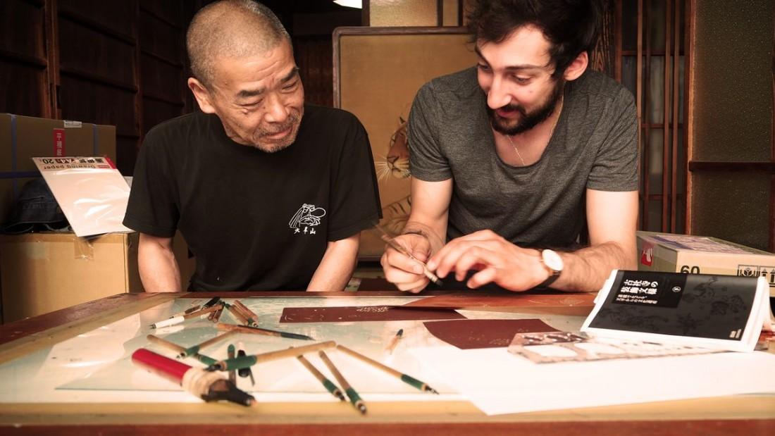 Karl-Mazlo_rencontre-Takeshi-Nishimura
