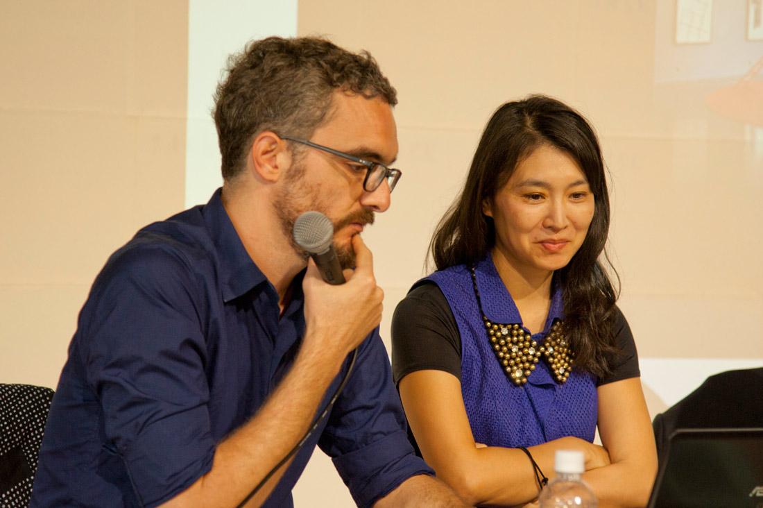 Conférence Vincent Romagny - Reiko Tsubaki - Villa Kujoyama - Photo Arnaud Rodriguez