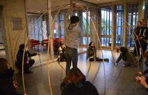 Todd and Hagino 151210 bamboo workshop at VK
