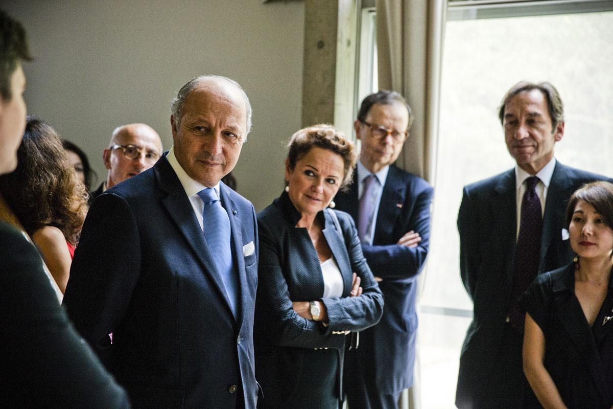 M. Laurent Fabius et Mme Marchand-Baylet
