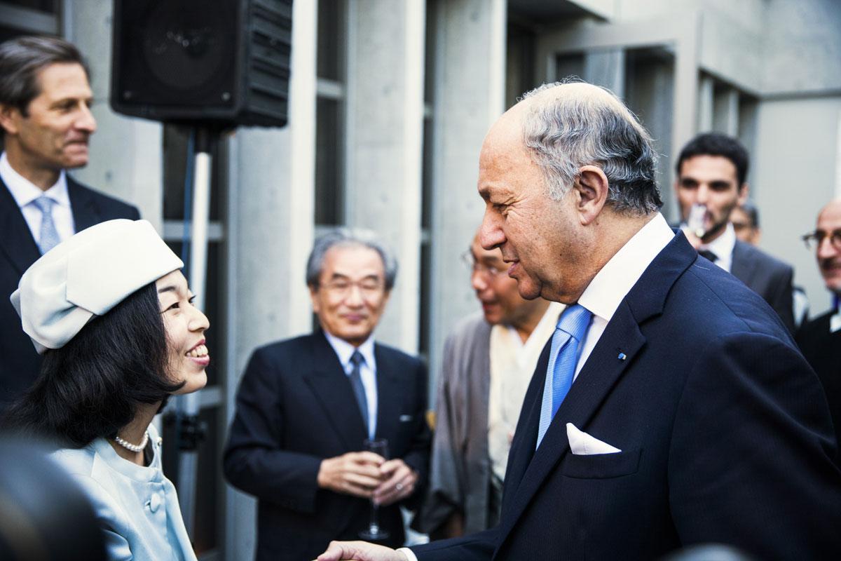 Princesse Hakiko de Mikasa et M. Laurent Fabius