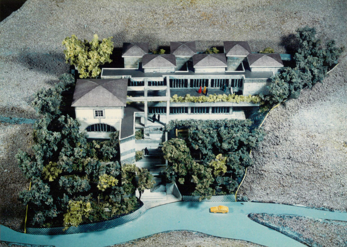 Maquette de la Villa Kujoyama