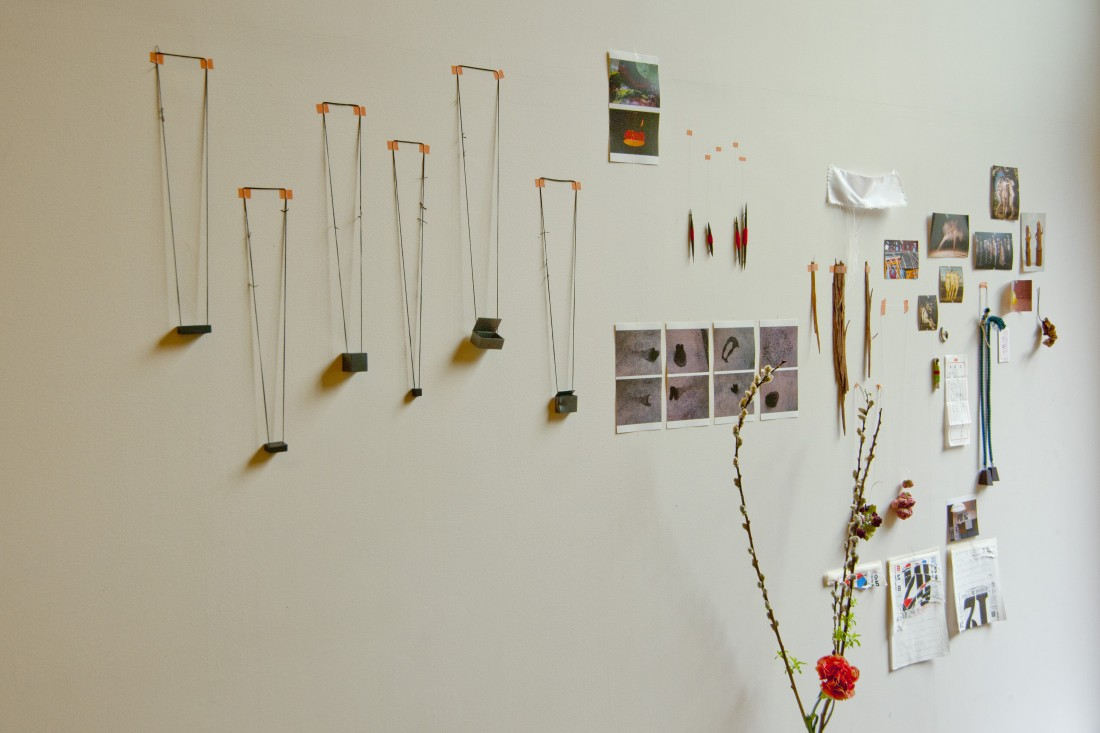 Céline Sylvestre. Visite d'atelier. Villa Kujoyama