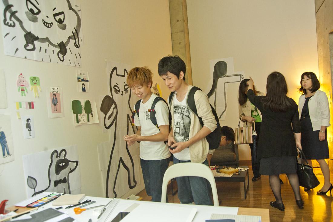 Iris de Mouy. Visite d'atelier. Villa Kujoyama