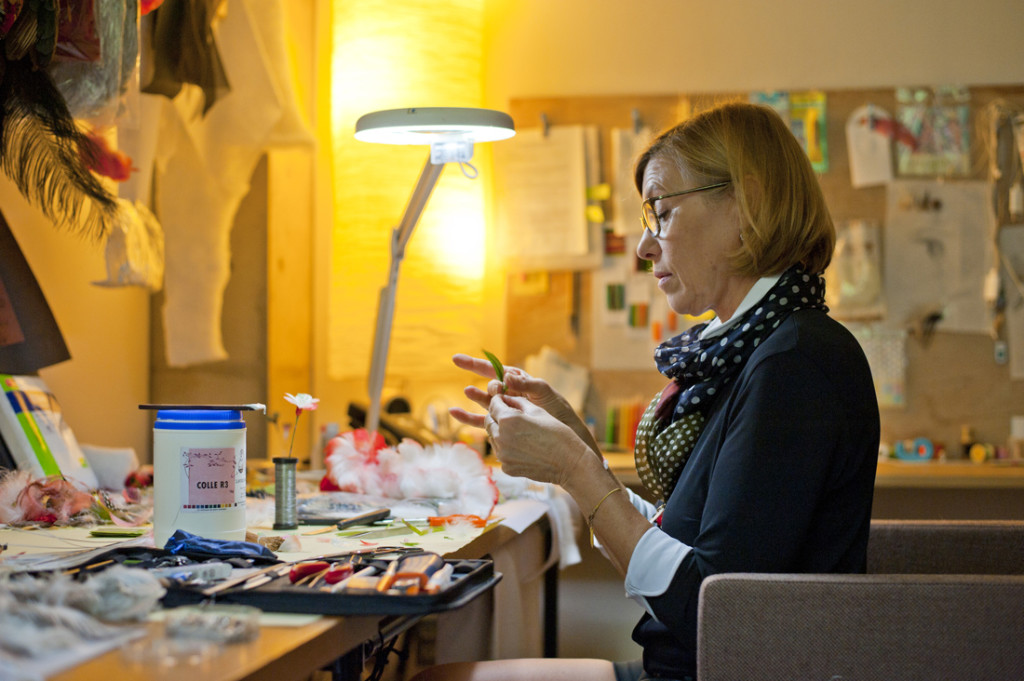 Nelly Saunier. Visite d'atelier