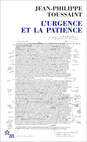 Jean Philippe Toussaint_l urgence et la patience_2012